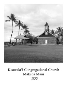 Page 1 Hawaii Church  Makema Maui