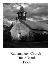 page 3 Kaulanapuco Church Maui
