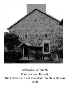 Mokuaikaua Church Kona Hawaii