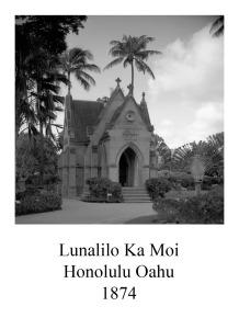 page 42 Lunalilo Ka Moi Honolulu Oahu